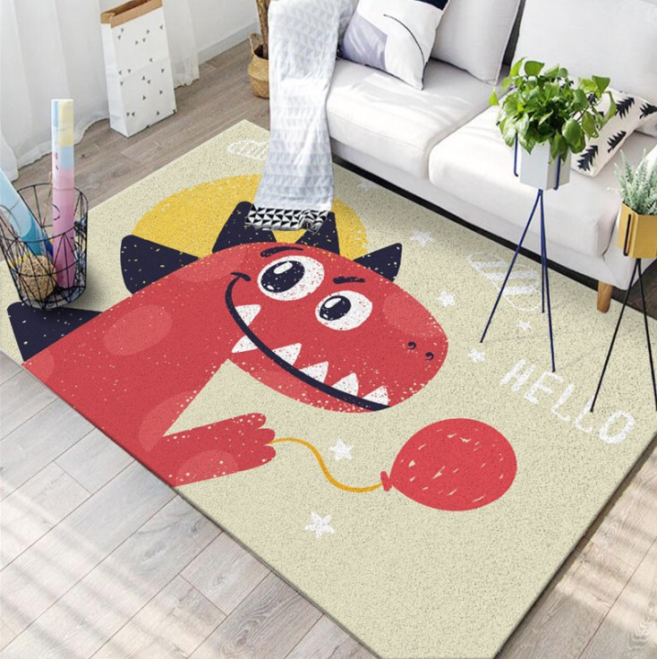 Плюшевый коврик без наполнителя «Динозавр» Размер 200x140x0.6 см