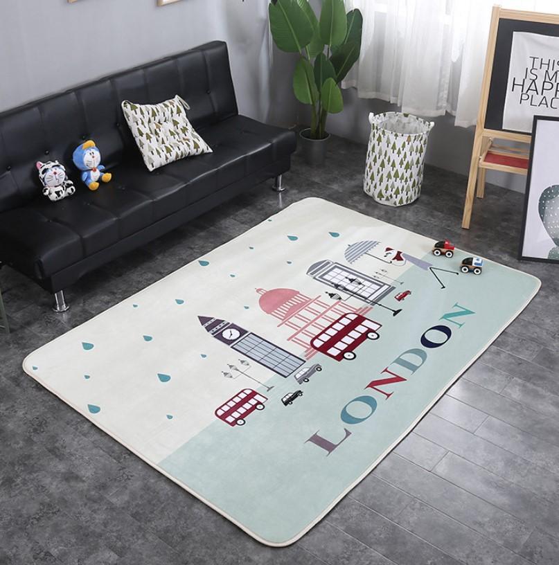 Плюшевый коврик с поролоновым наполнителем «London» Размер 200x150x1 cm