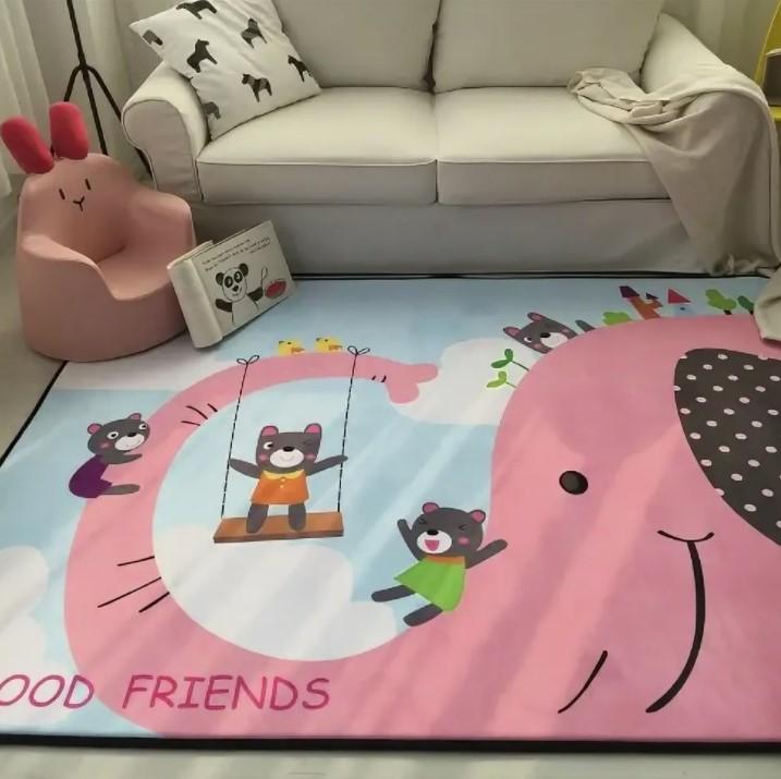 Плюшевый коврик — мат «Слон» размер 200x150x1.5 см