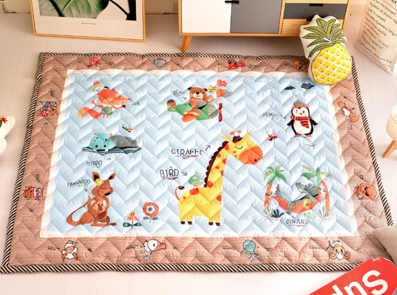 Стеганый коврик «Кенгуру и жираф» Размер 200×150 см