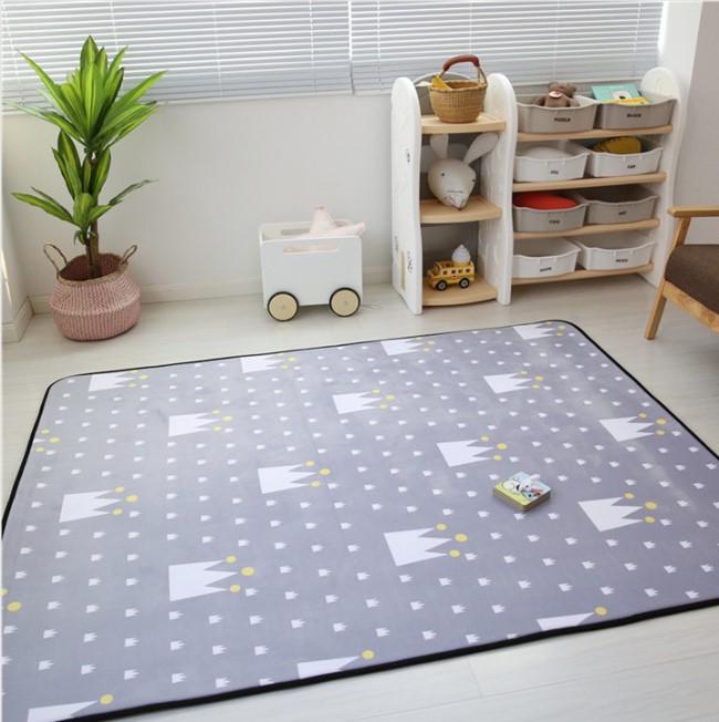 Плюшевый коврик-мат «Корона» размер 200×150х1,5 cm