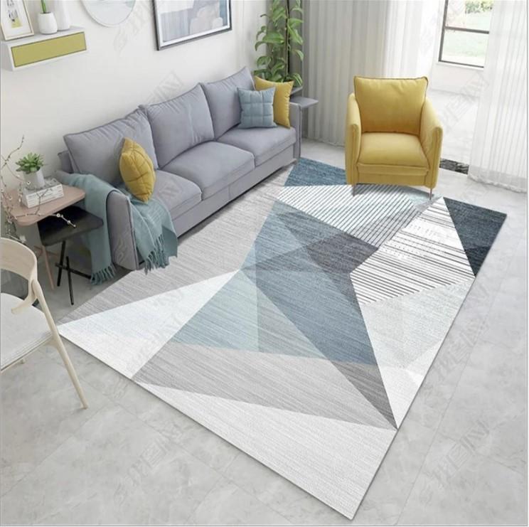 Плюшевый коврик без наполнителя «Серая иллюзия» Размер 200x140x0.6