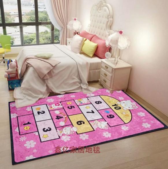 Плюшевый коврик без наполнителя «Классики Hello Kitty» Размер 200×140 см