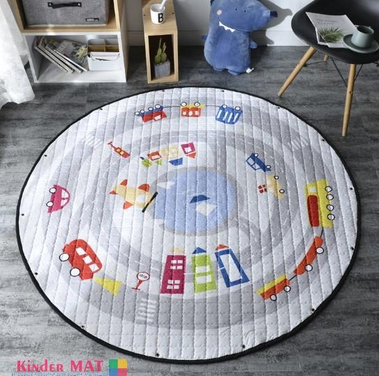 Стеганый коврик-мешок «Дорога» Диаметр 150 см