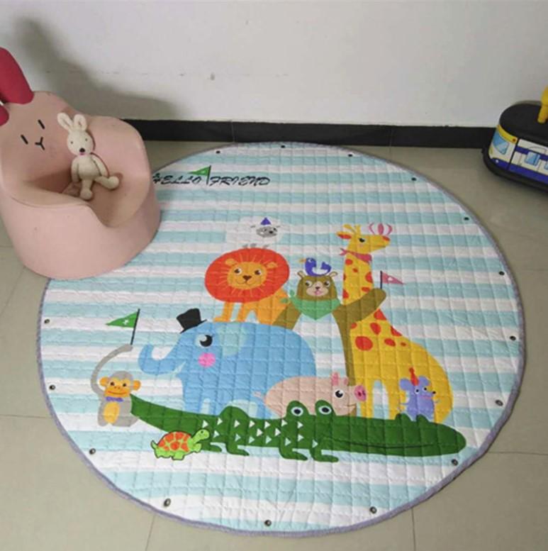 Стёганый коврик-мешок «Зоопарк» диаметр 150 см