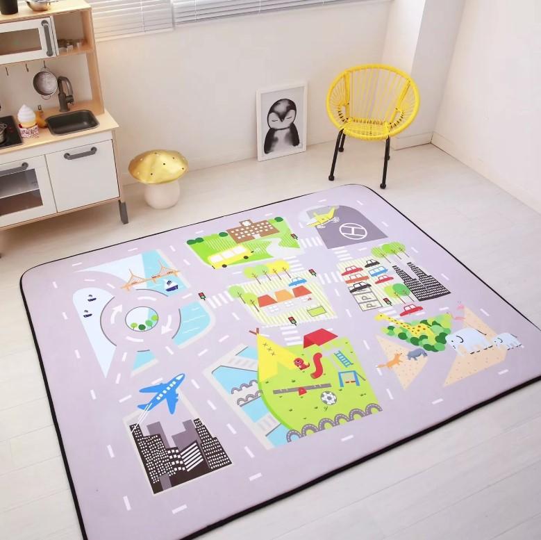 Плюшевый коврик-мат «Мегаполис» Размер 200×150 см