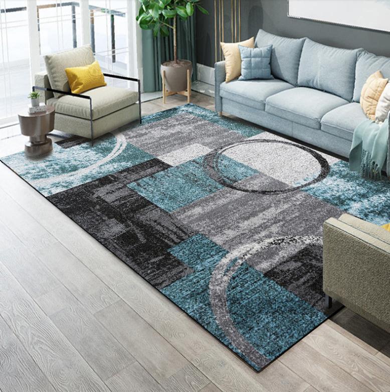 Плюшевый коврик без наполнителя » Абстракция» Размер 200x140x0.6 см