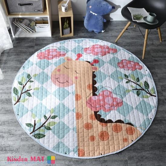 Стеганый коврик-мешок «Жираф». Диаметр 150 см
