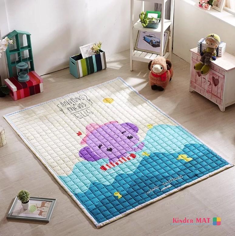Стеганый коврик «Слоник в море» Размер 200×150 см
