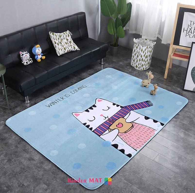 Плюшевый коврик с поролоновым наполнителем «winter is comming» Размер 200x140x1 см