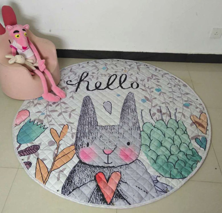 Стеганый коврик-мешок «Заяц» диаметр 150 см.