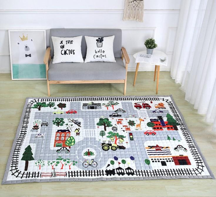 Стёганый коврик «город» Размер 200×150 см