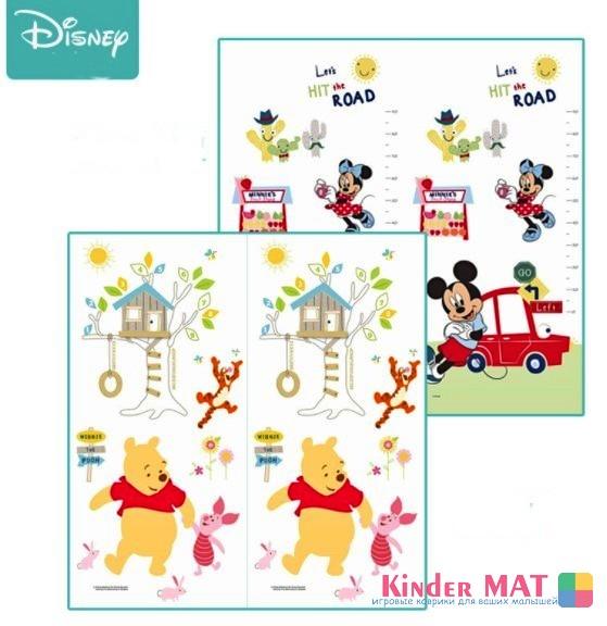 Складной коврик XPE «Disney машинки» Размер 200x180x1 см