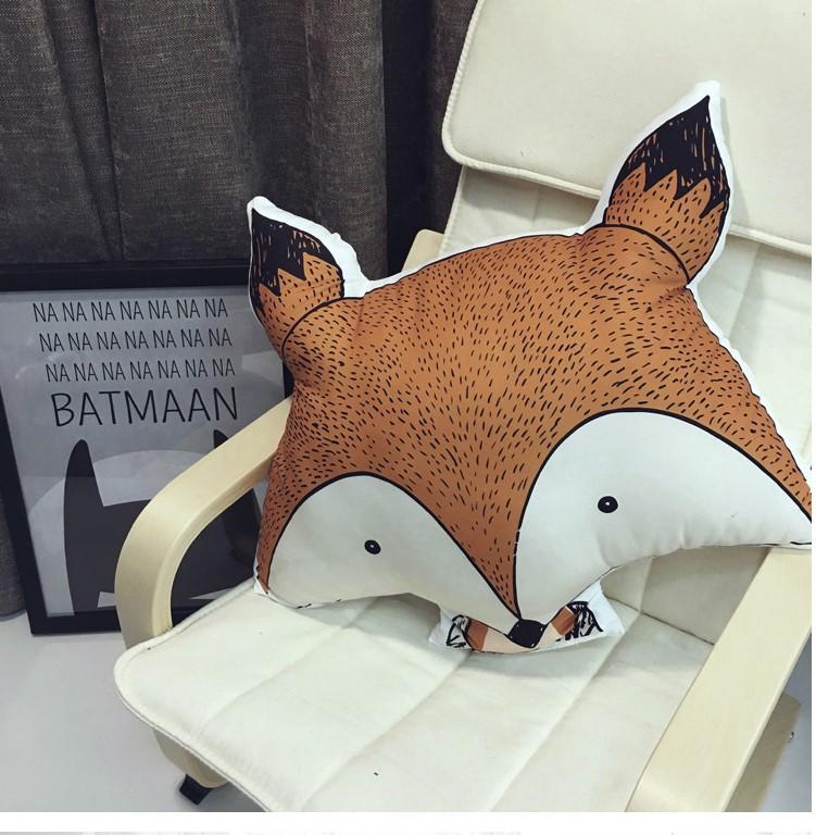 Тканевая интерьерная подушка «Лиса»
