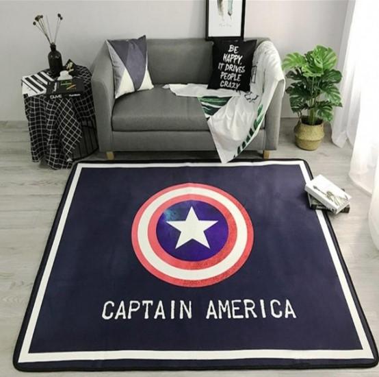 Плюшевый коврик без наполнителя «Captain America» Размер 200x140x0,5 см