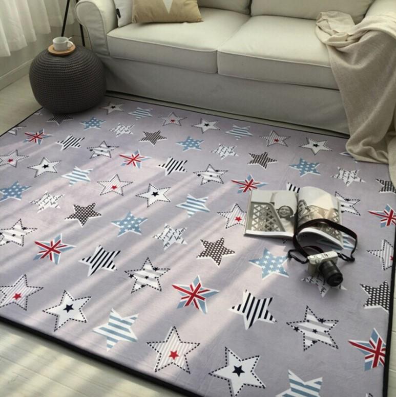 Плюшевый коврик-мат «Звезды» Размер 200×150 см