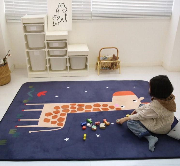 Плюшевый коврик-мат «Жираф» Размер 200x150x1,5 см