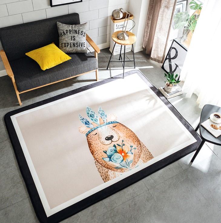 Плюшевый коврик «Медведь» — Размер 195×145 см