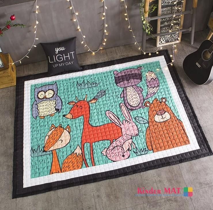 Стёганый коврик «Лесные жители» — размер 200×150 см