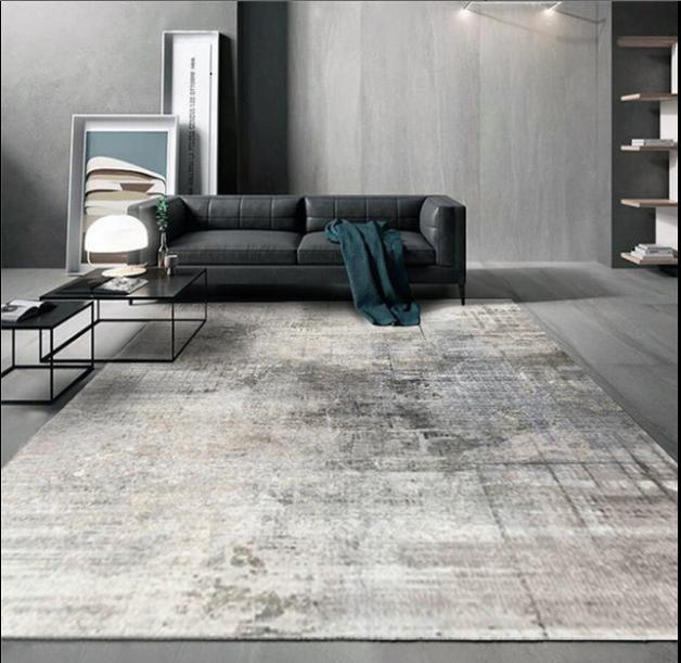 Плюшевый коврик без наполнителя «мокрый асфальт» Размер 200*140*0,5 см