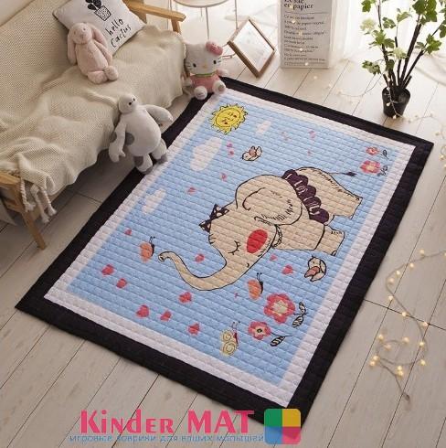 Стёганый коврик «Слоненок в юбке»- размер 195×145 см.