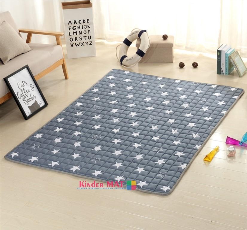 Стёганый коврик-покрывало «Звезды», размер 200×150 см.
