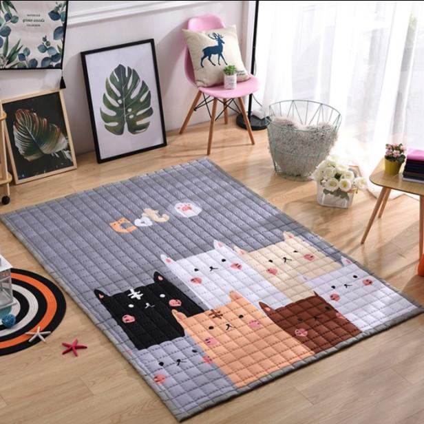 Стёганый коврик «Коты» — Размер 200×150 см