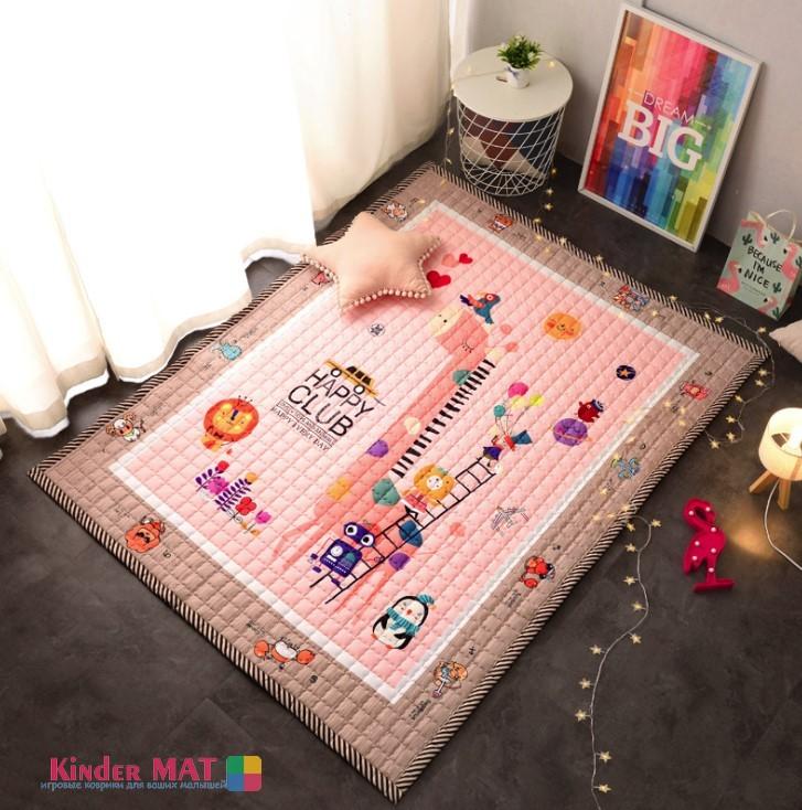 Стёганый коврик «Розовый жираф». Размер 200×150 см