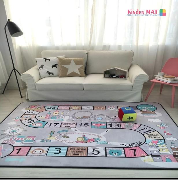 Плюшевый коврик-мат «Цифры» Размер 200×150х1,5 cm