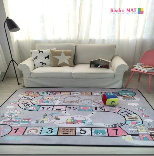 Плюшевый коврик-мат «Цифры» Размер 200×150 cm