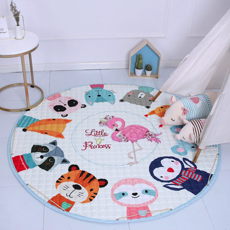 Стеганый коврик-мешок «Little Princess» Диаметр 150 см