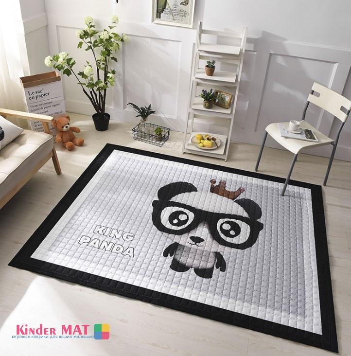 Стёганый коврик «King Panda». Размер 195×145 см.