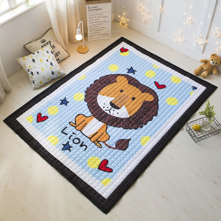 Стёганый коврик «Царь зверей» Размер 200×150 см