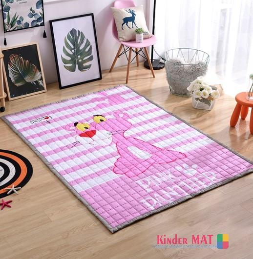 Стёганый коврик «Розовая пантера» Размер 200×150 см