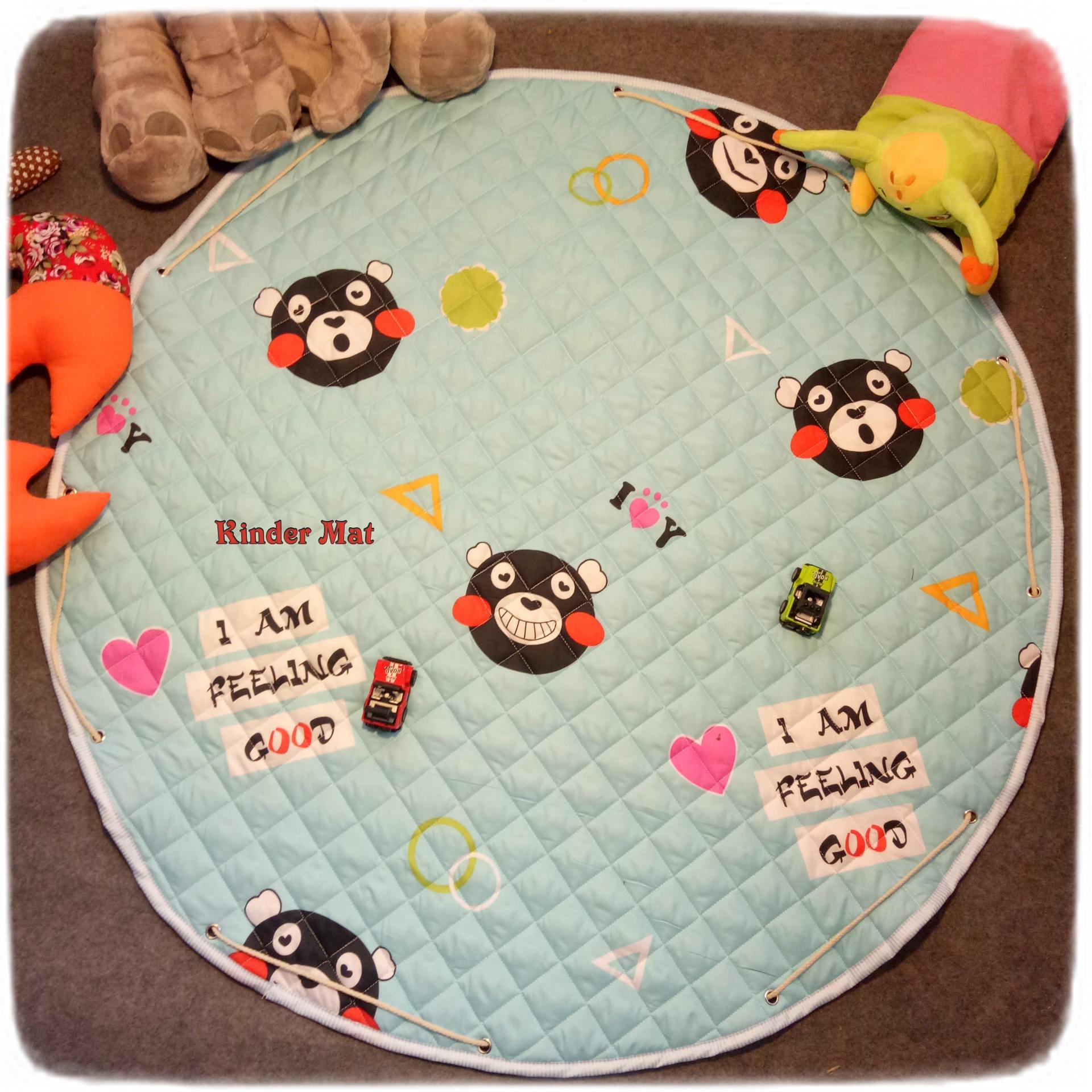 Стёганый коврик-мешок «Черная мышь» диаметр 110 см.