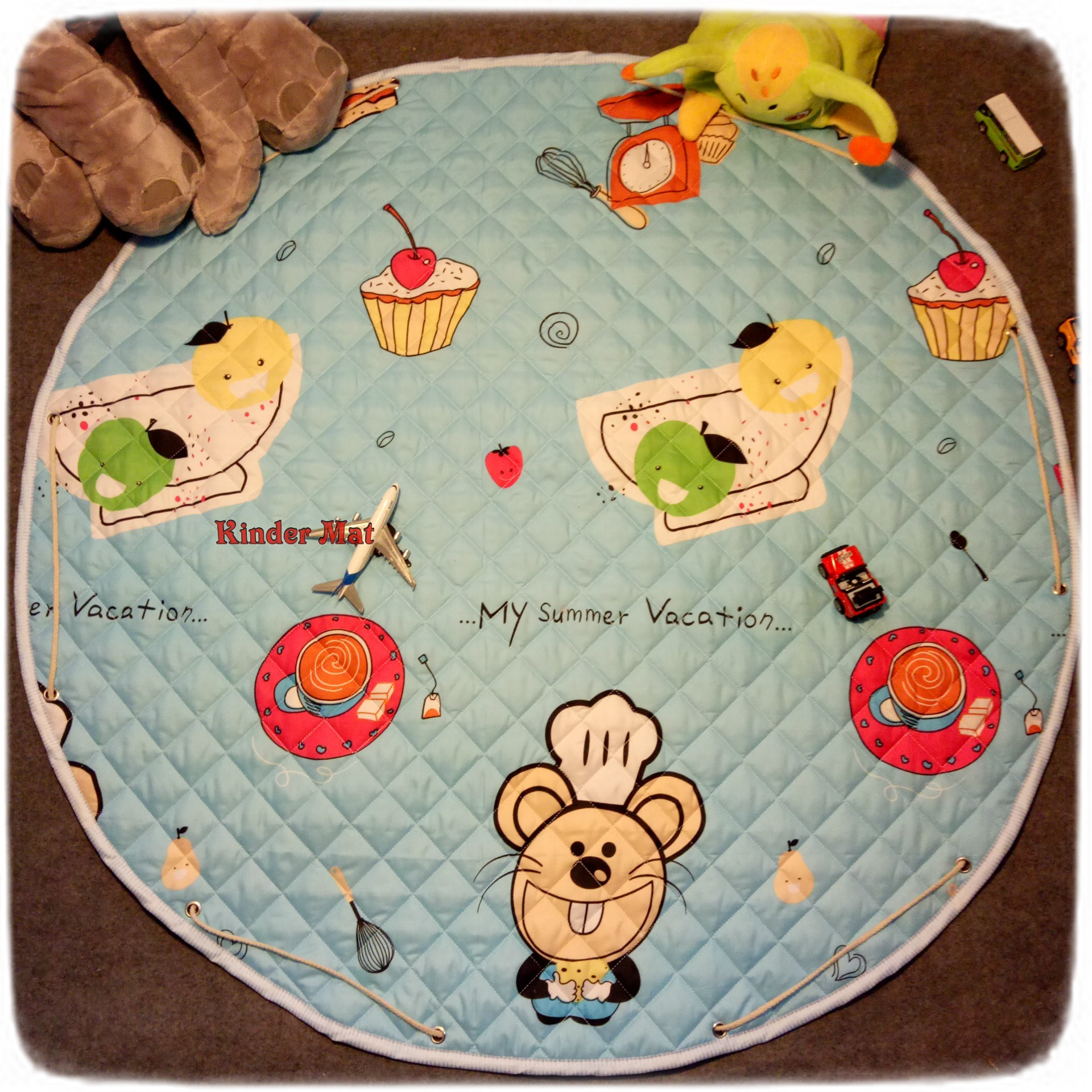 Стеганый коврик-мешок «Мышь» диаметр 110 см.