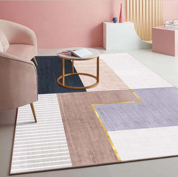 Плюшевый коврик без наполнителя «Золотая линия» Размер 200x140x0,5 см