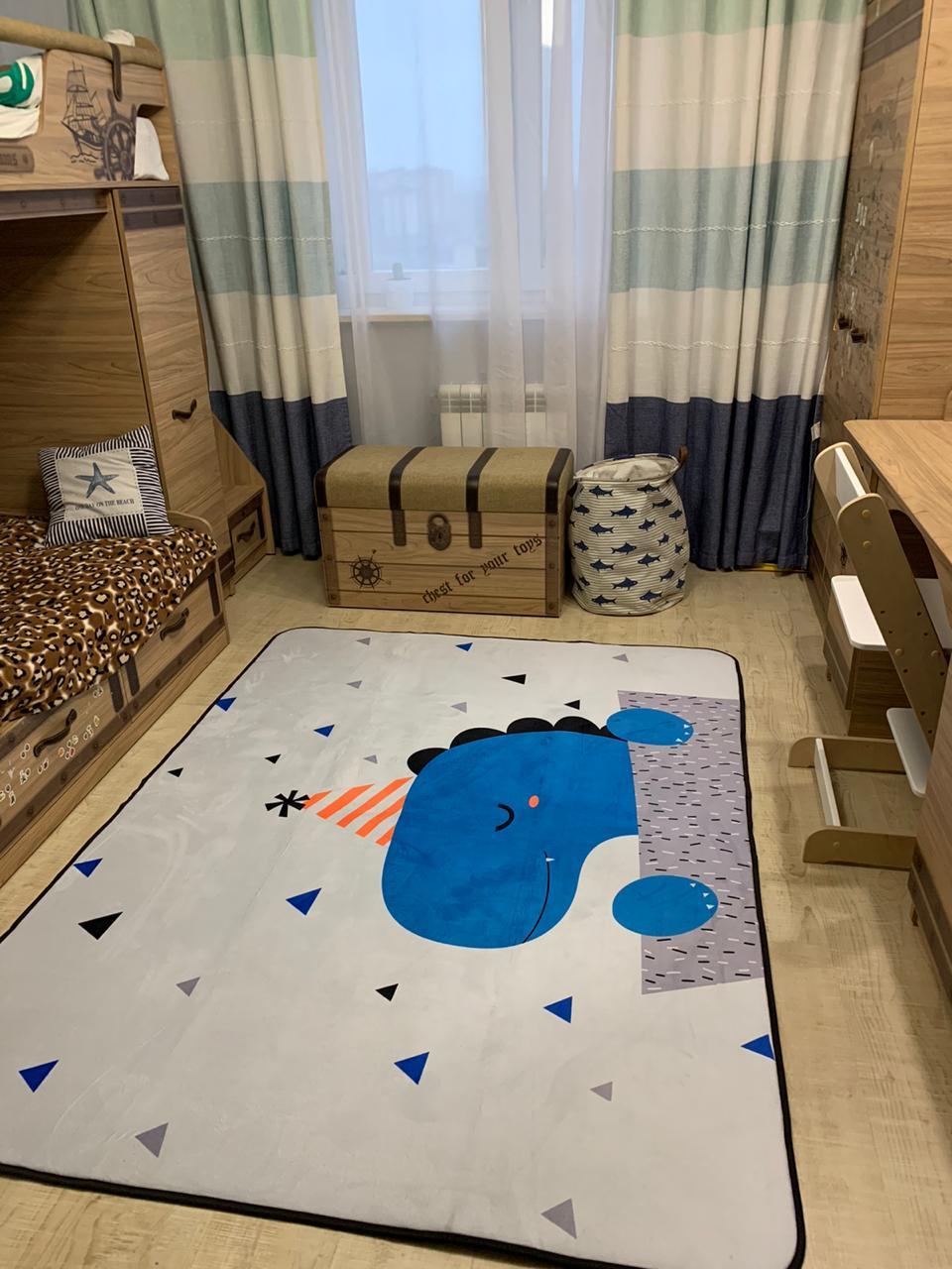 Плюшевый коврик — мат «Динозавр» Размер 200×150 см