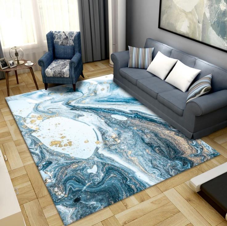 Плюшевый коврик без наполнителя «Эпоксидная смола» Размер 230х160х0,6 см