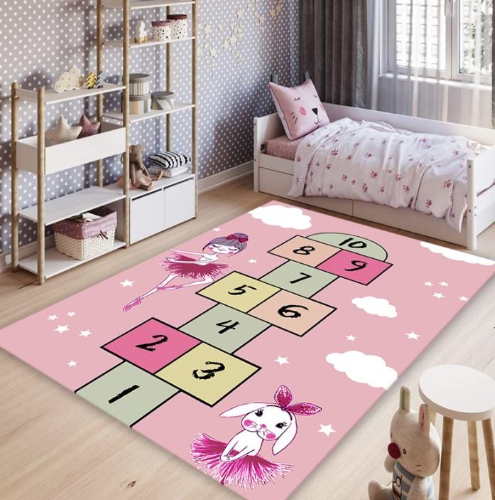 Плюшевый коврик без наполнителя «Принцесса и классики» Размер 200×140 см