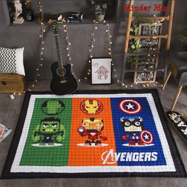 Стёганый коврик «Мстители» — размер 195×145 см.