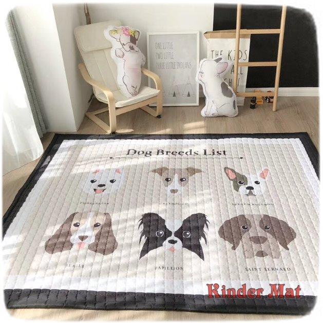 Стёганый коврик «Щенки» — размер 200×150 см.