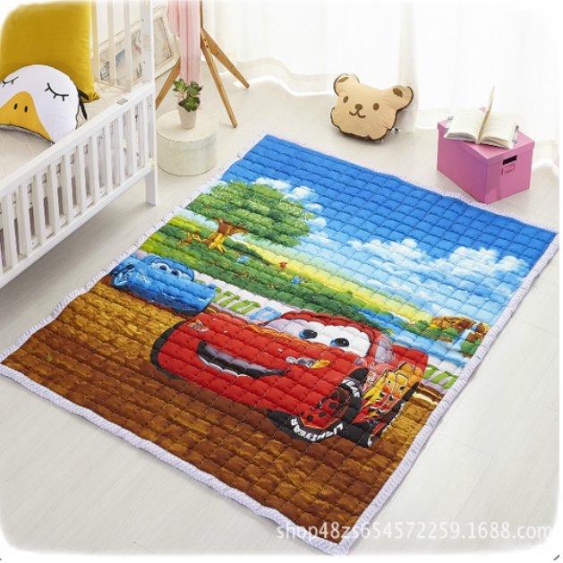 Стёганый коврик «Тачки» — размер 200×150