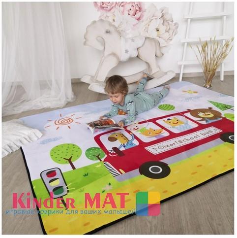 Плюшевый коврик — мат » Автобус» Размер 200x150x1.5 см