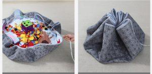"""Стеганый коврик-мешок """"Заяц"""" диаметр 150 см."""