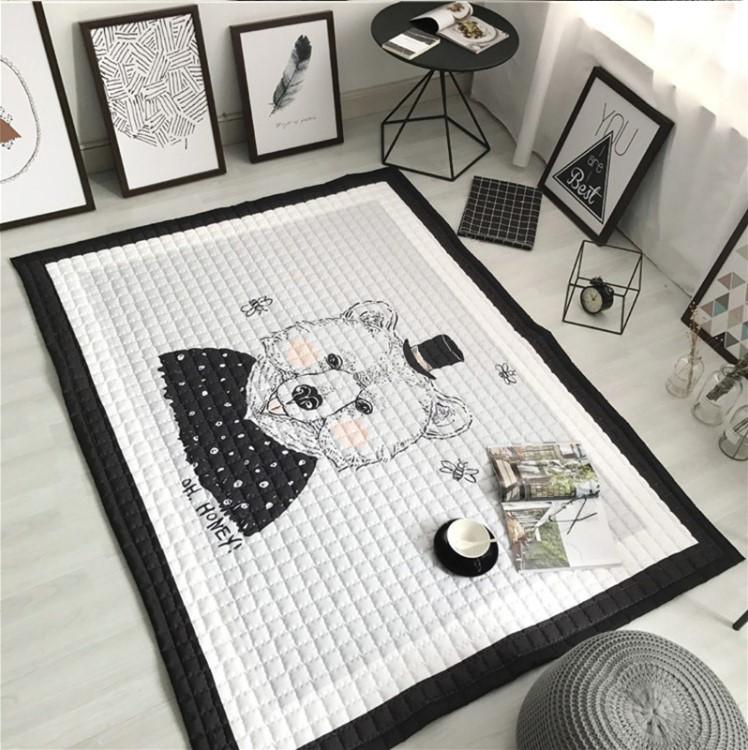 Стеганый коврик «Медведь в цилиндре» Размер 200×150 см