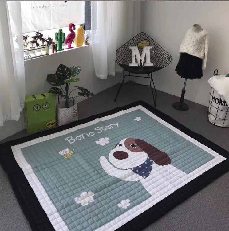 Стёганый коврик «Собака Bono» — размер 200×150 см.