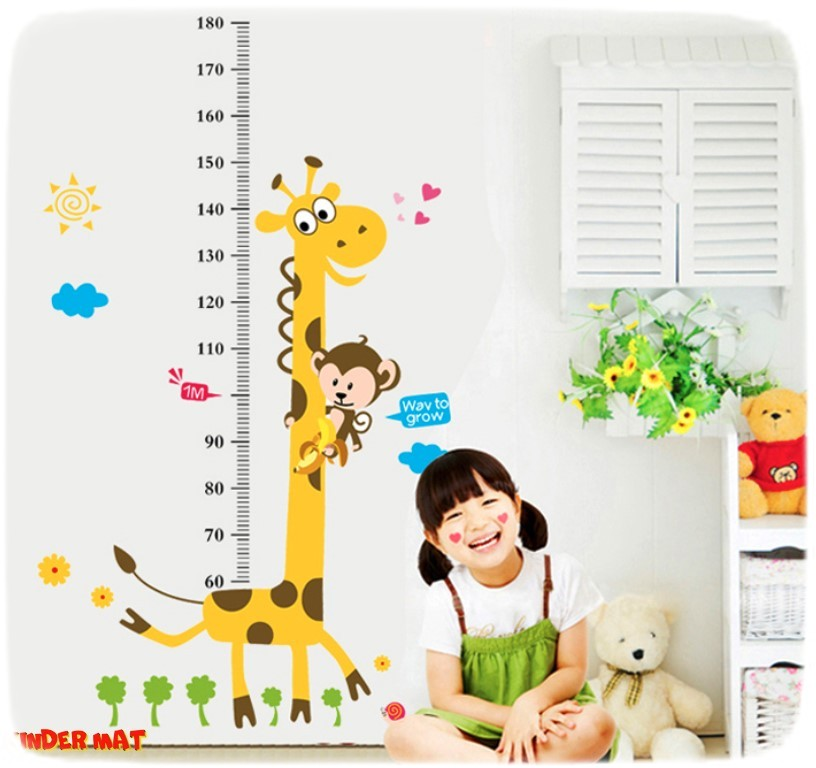 Наклейка-ростомер «Жираф и Линейка»