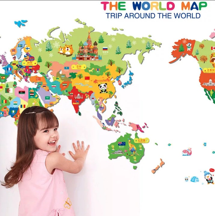 Наклейка «Карта Мира»