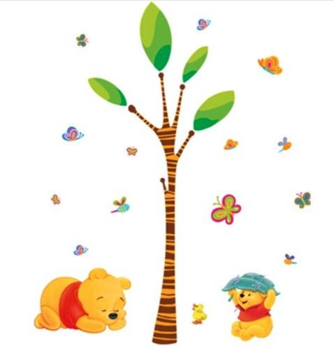 Наклейка «Винни-Пух под деревом»